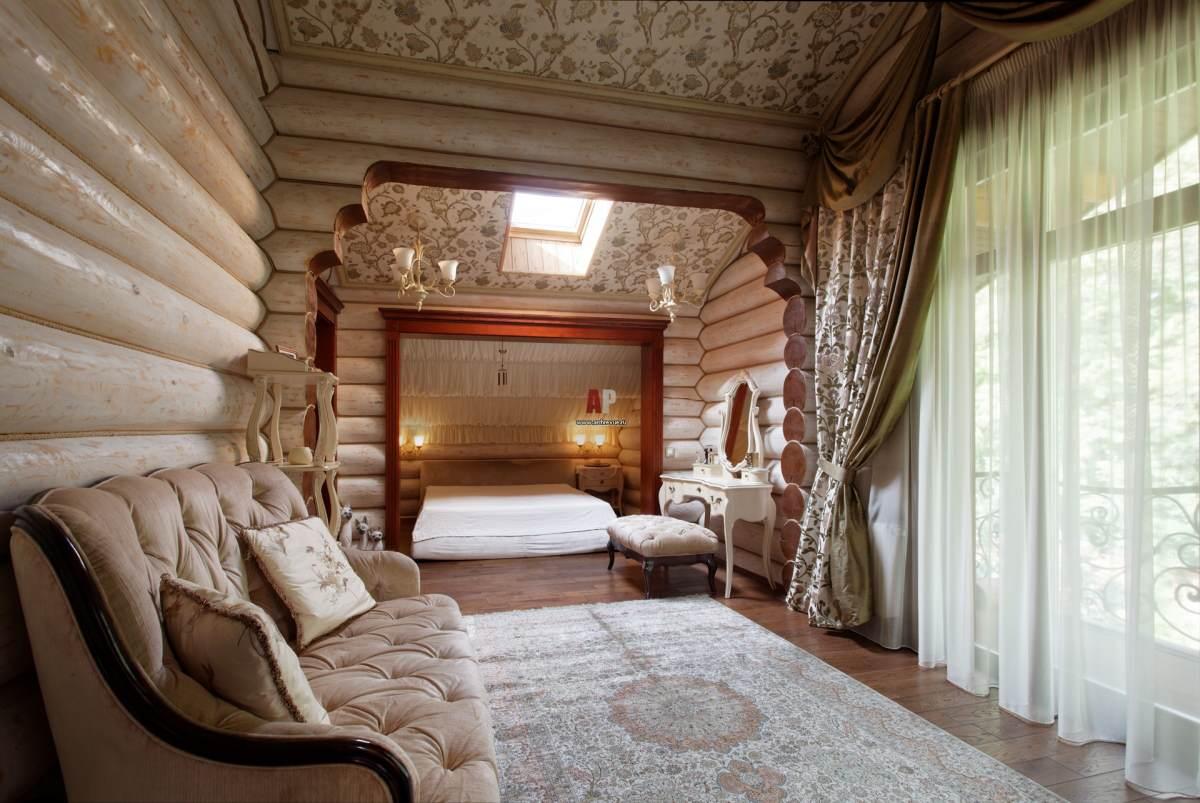 Интерьеры в деревянных домах фото