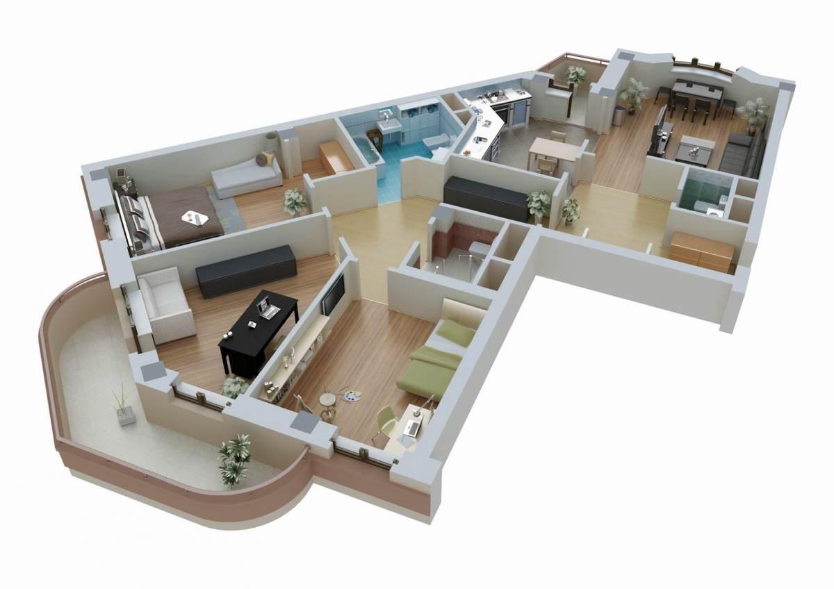 Планировка и дизайн квартир фото
