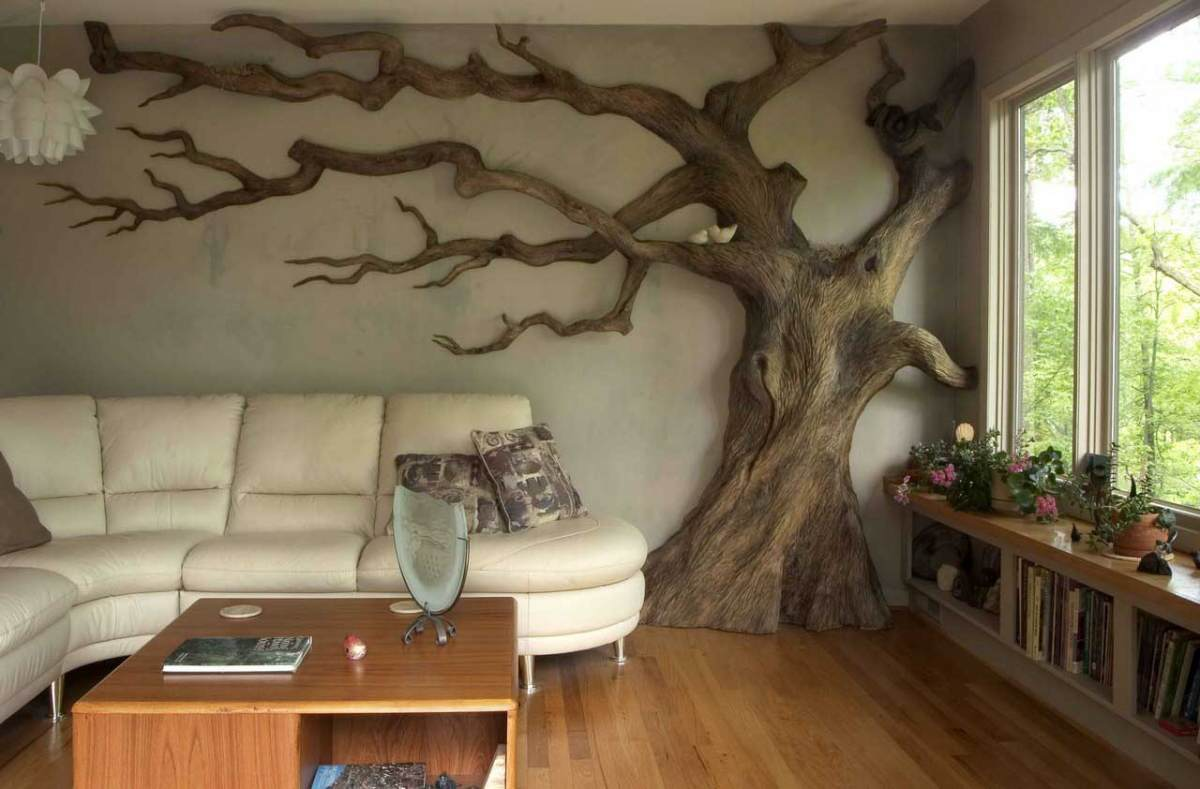 Декорация в квартире своими руками