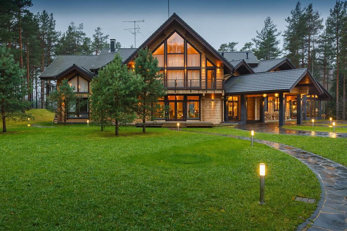 Ландшафтный дизайн крыльца загородного дома