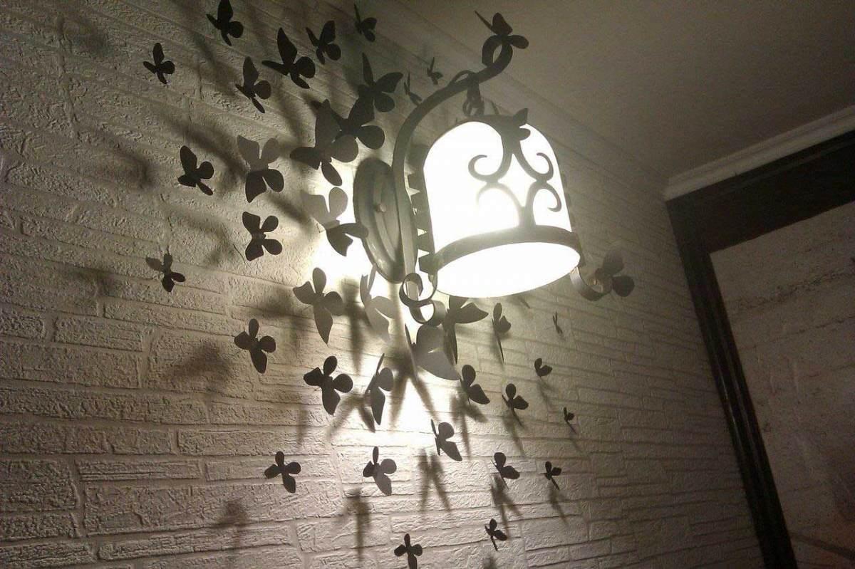 Бабочки интерьере своими руками фото