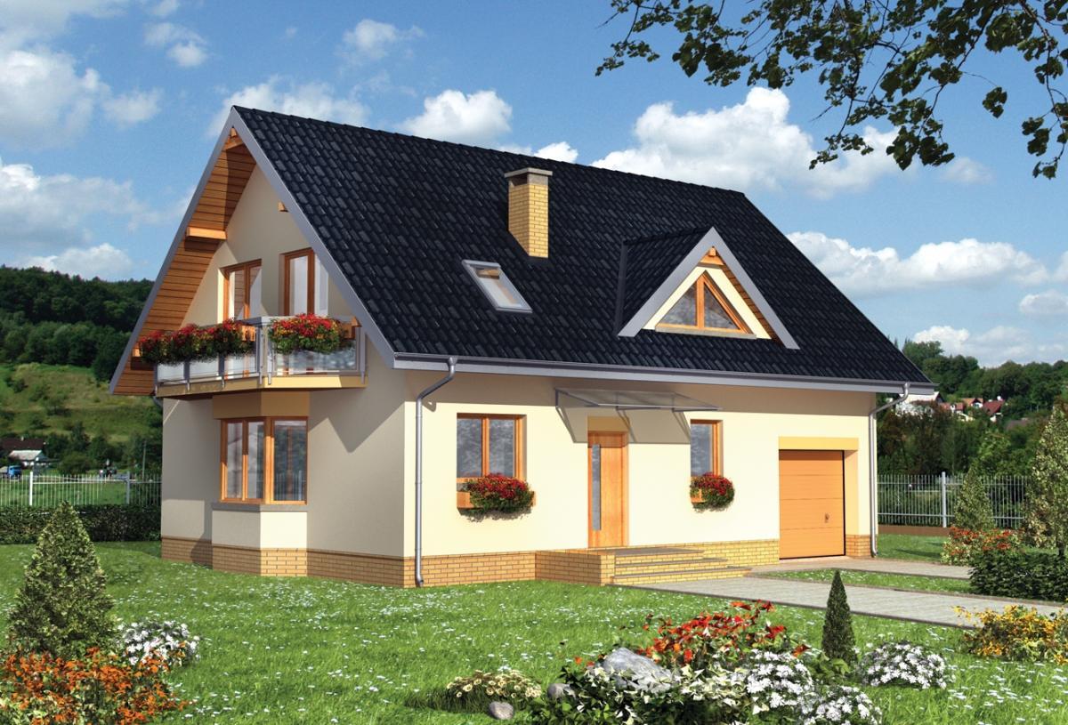 Мансардный домов с фото
