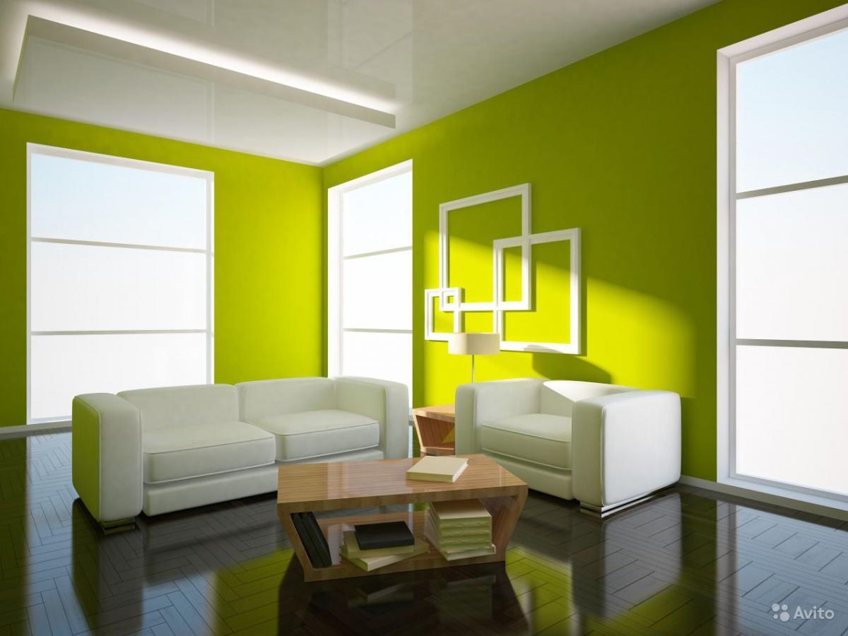 Гостиная в зеленых тонах дизайн фото