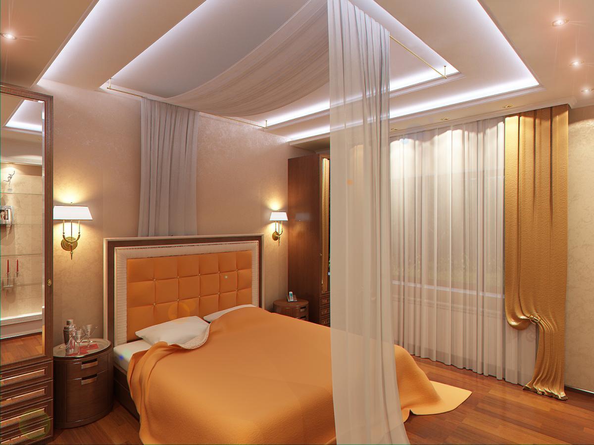 Подвесные потолки фото в спальне