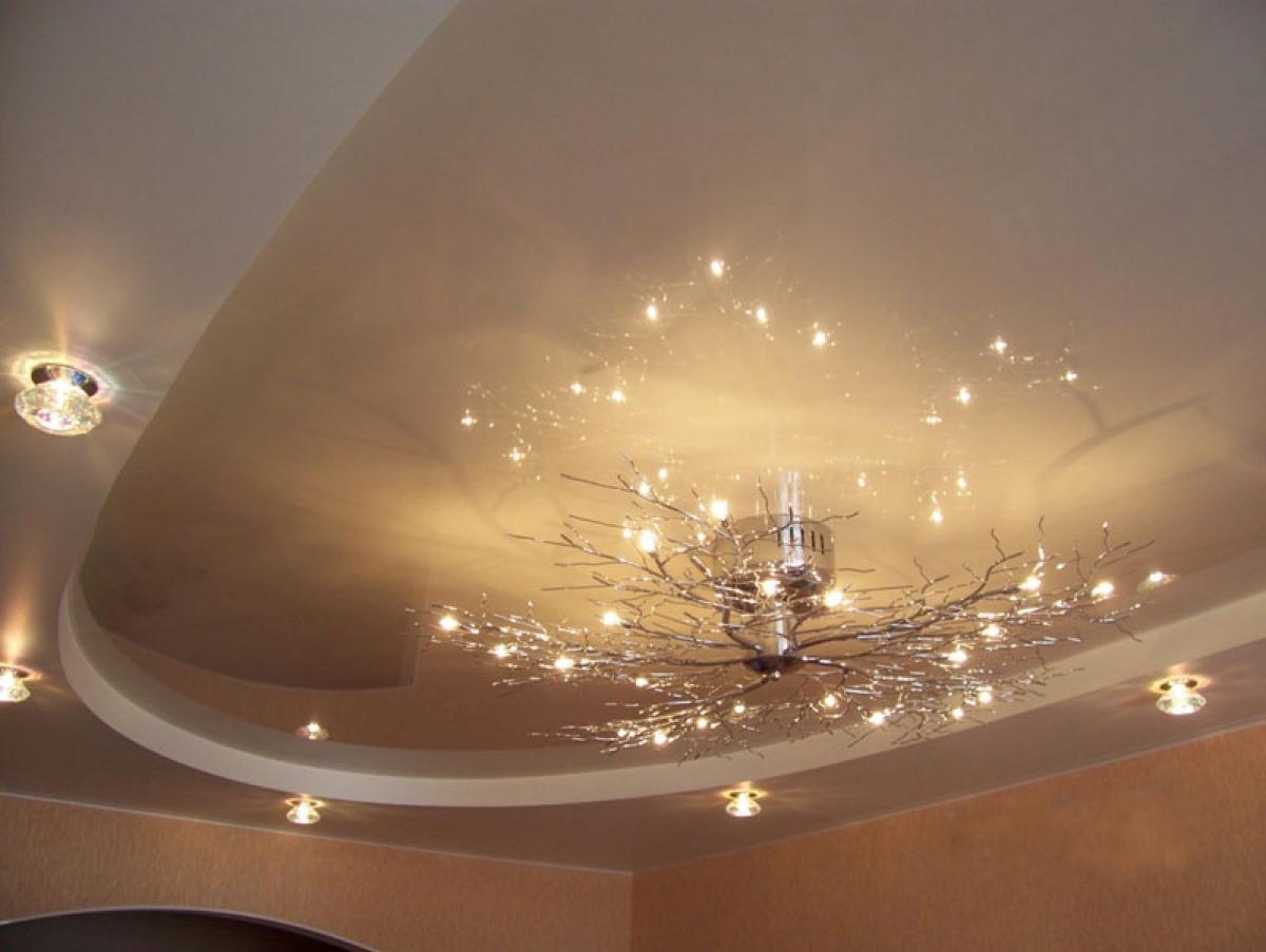 Варианты подвесных потолков фото